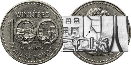 1 dollar 1974 - DDR #10 Loose Wall (VCR-10)
