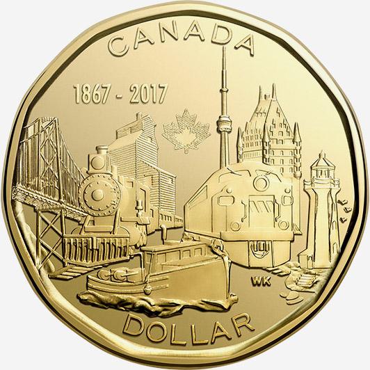 1 dollar 2017 - Canada 150 - 150 ans - Confédération