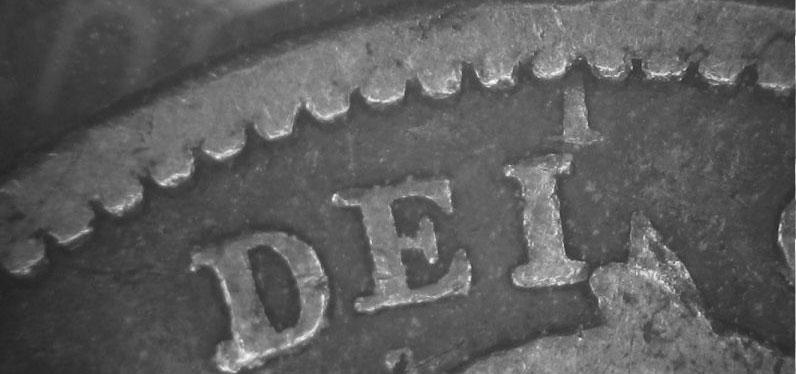 10 cents 1858 - DEI Marker