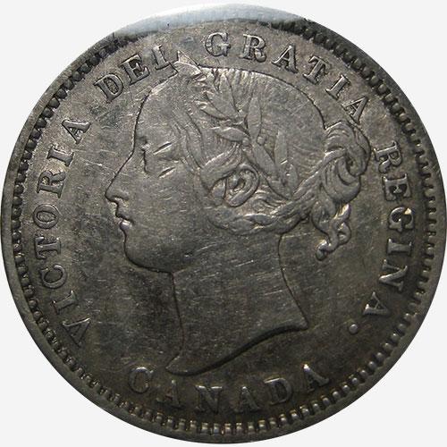 10 cents 1881 - H - Obverse # 1