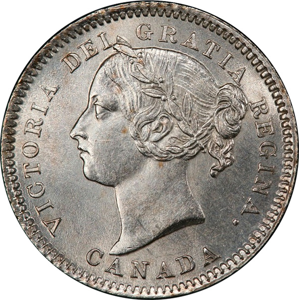 10 cents 1881 - H - Avers # 2