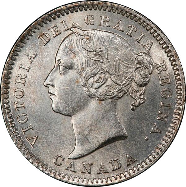 10 cents 1881 - H - Obverse # 2
