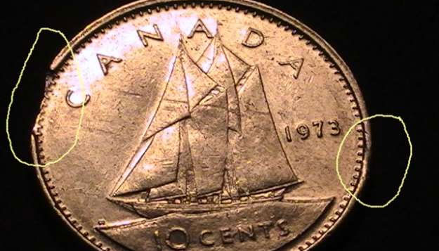 Coins and Canada - 10 cents 1973 - Canadian coins price