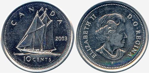 10 cents 2003 - P - New effigy