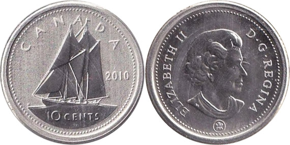 10 cents 2010 - Mule - Canada