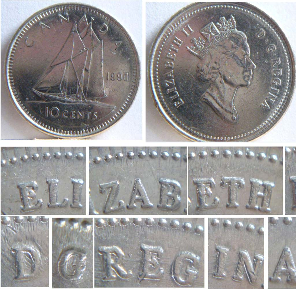Coins and Canada - Deteriorated Die - Errors and varieties