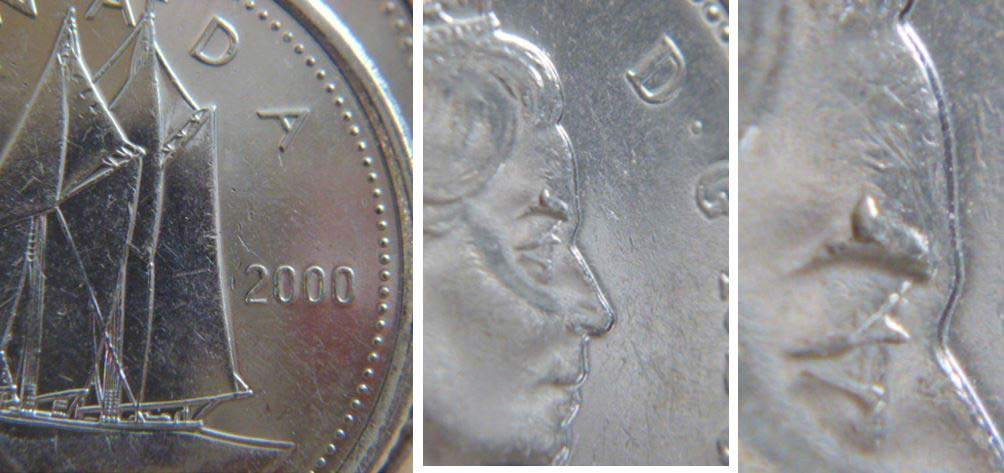 Proof Like 1999P Canada 10 Cents From Mint/'s Set