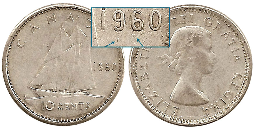 Coins And Canada 10 Cents 1960 Canadian Coins Price