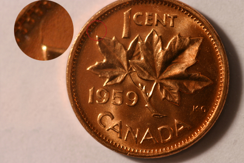 Coins and Canada - 1 cent 1959 - Canadian coins price guide
