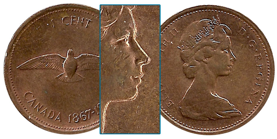 Coins And Canada 1 Cent 1967 Canadian Coins Price Guide Value Errors And Varieties