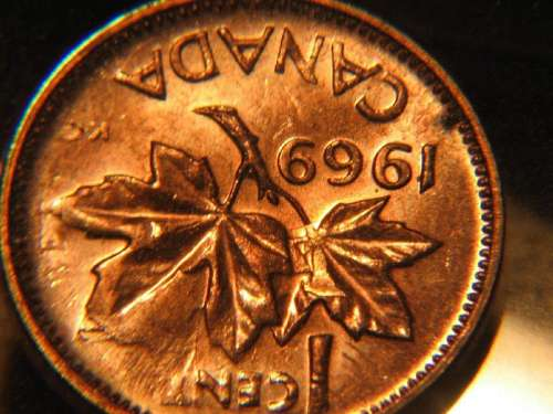 Coins and Canada - 1 cent 1969 - Canadian coins price guide