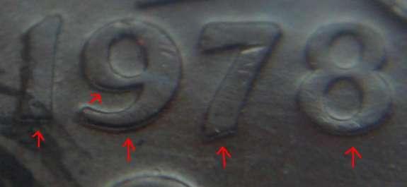 1 cent 1978 - Double 1978