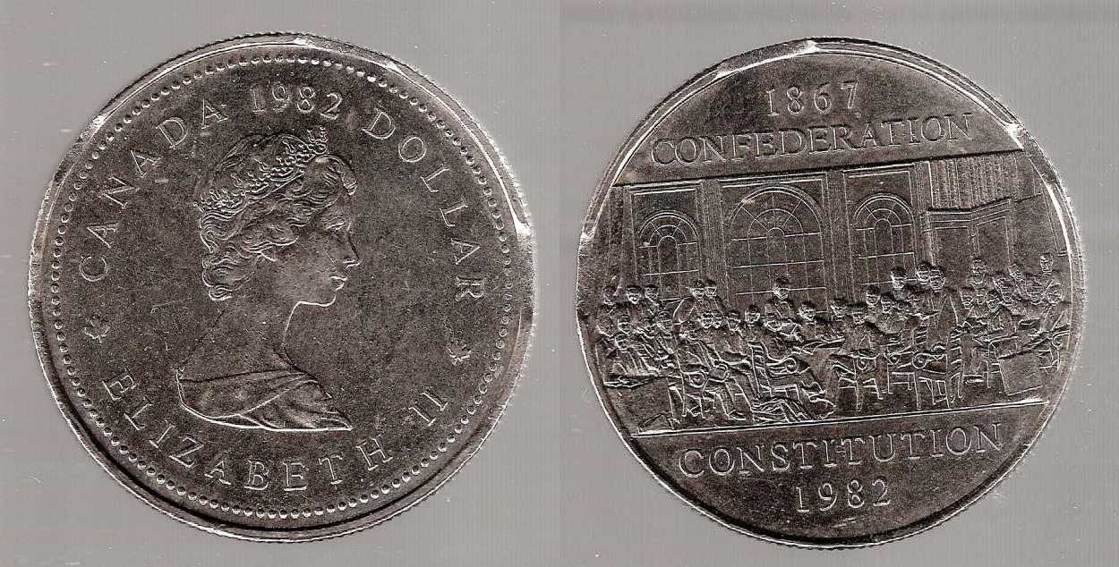 1982 Canadian Confederation Silver Dollar Value Best