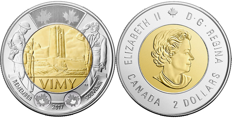 2 dollars 2017 - Battle of Vimy Ridge