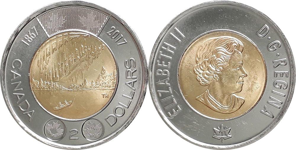 2 dollars 2017 - Canada 150