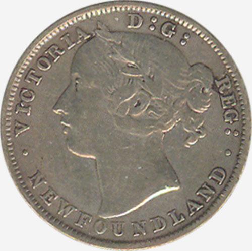 20 cents 1894 - Newfoundland - Obverse # 1
