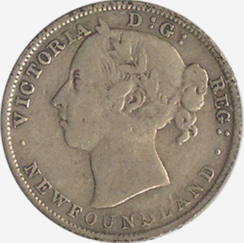 20 cents 1894 - Newfoundland - Obverse # 2