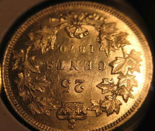 Coins And Canada 25 Cents 1870 Canadian Coins Price Guide And Values