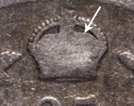 25 cents 1906 - Petite couronne