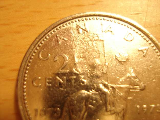 Coins and Canada - Struck through Grease - Errors and