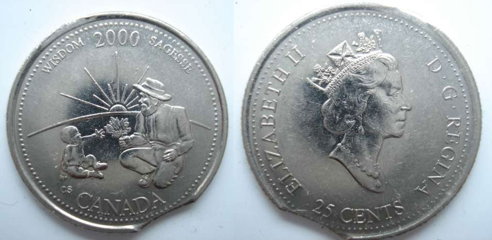 Coins and Canada - 25 cents 2000 - Canadian coins price