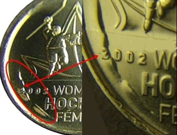 RARE UNCIRCULATED 2009 25 cents Men/'s Hockey Colour Raised 2 Canada coin
