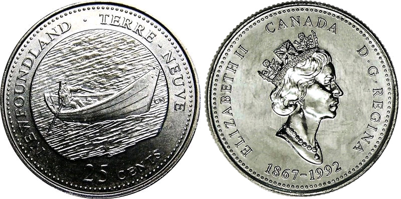 1992 Canada 25 cents Proof Silver Coin Manitoba
