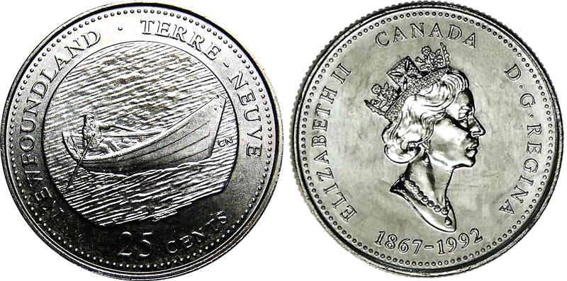 25 cents 1992 - Newfoundland