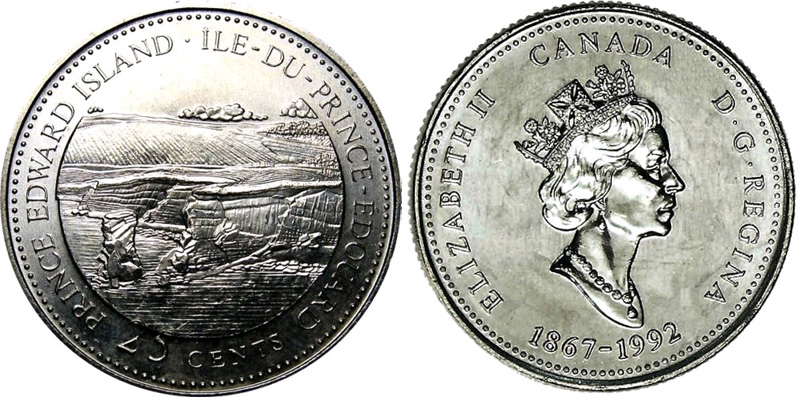 25 cents 1992 - Prince Edward Island