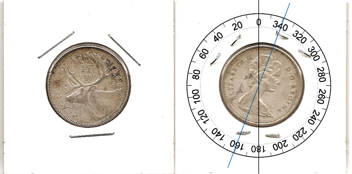 Coins and Canada - 25 cents 1966 - Canadian coins price