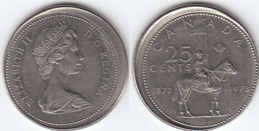 Coins And Canada 25 Cents 1973 Canadian Coins Price