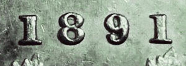5 cents 1891 - Double 8