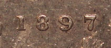 5 cents 1897 - Slender 8