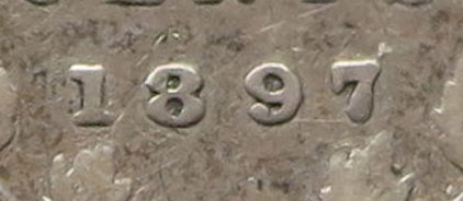 5 cents 1897 - Wide 8