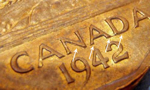 Coins and Canada - 5 cents 1942 - Canadian coins price guide
