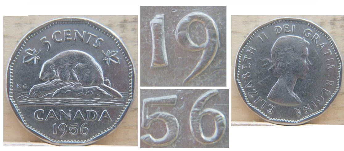 3632 5 Cents 1956