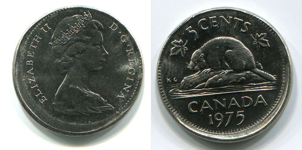 Coins And Canada 5 Cents 1975 Canadian Coins Price Guide And Values
