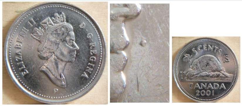 2001 P Canada 5 Cents BU