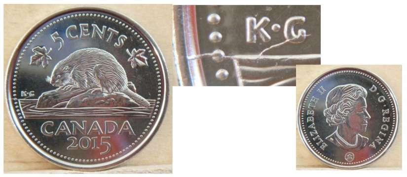 2015 Uncirculated Canadian Nickel $0.05