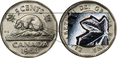 5 cents 1953 - Far Leaf
