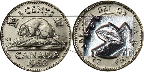5 cents 1953 - Near Leaf