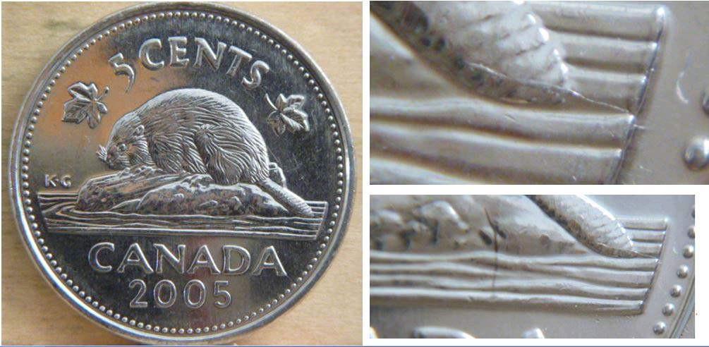 2005 CANADA 5 CENTS PROOF SILVER NICKEL HEAVY CAMEO COIN