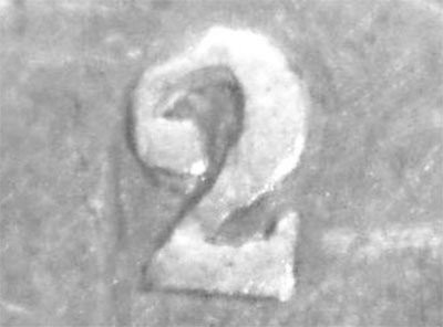 50 cents 1872 - H - Double - Repunched 2