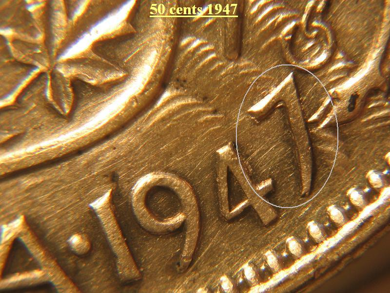 Coins And Canada 50 Cents 1947 Canadian Coins Price