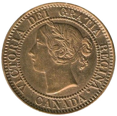 MS-60 - 1 cent 1858 and 1859 - Victoria