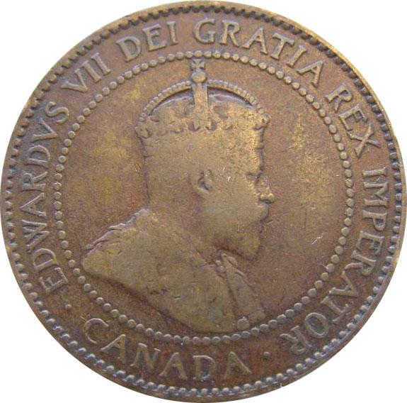 G-4 - 1 cent 1902 to 1910 - Edward VII