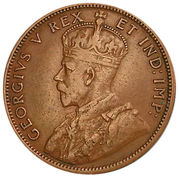 F-12 - 1 cent 1911 to 1920 - George V