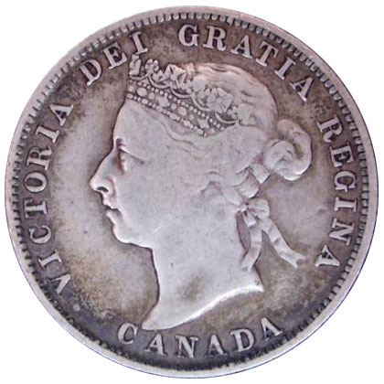 F-12 - 25 cents 1870 to 1901 - Victoria