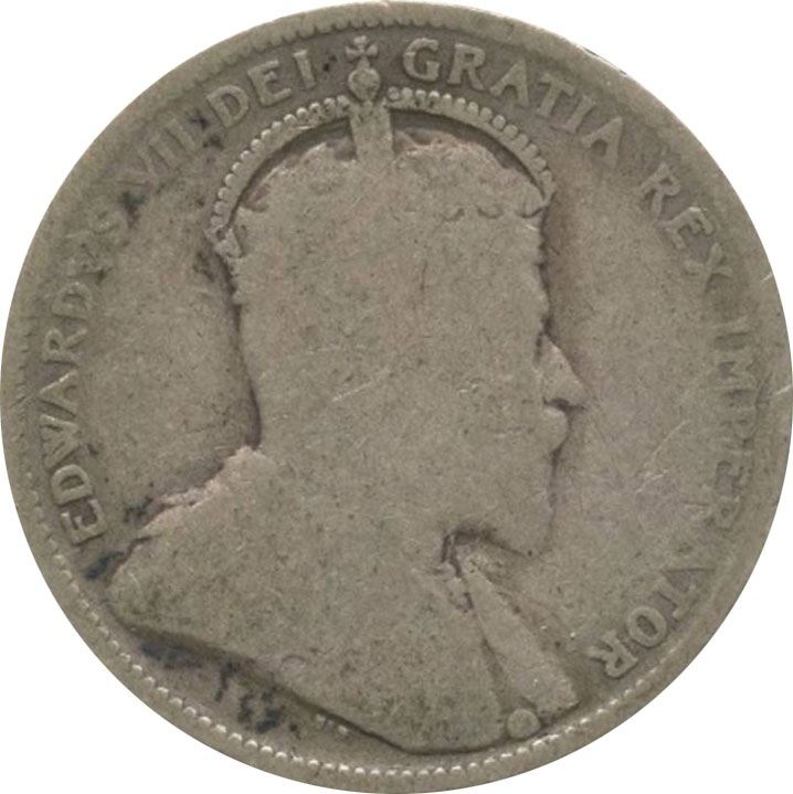 AG-3 - 25 cents 1902 to 1910 - Edward VII