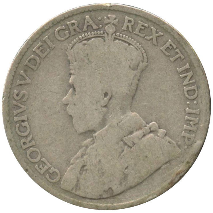 VG-8 - 25 cents 1911 to 1936 - George V
